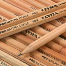 12 x LYRA NATURAL WOOD PENCILS with ERASER RUBBER BOXED HB Grade